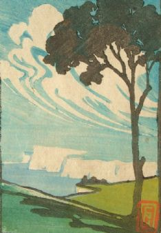 C. Noel Heath art deco 1920's; White Cliffs